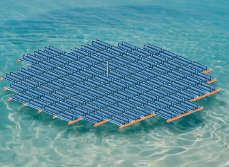 Startup Develops Floating Solar Farm Environment News