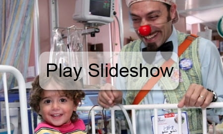 slide but Israeli Hospitals Employ Full Time Doctors, Nurses And... Clowns?