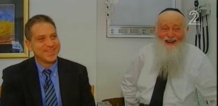 Rabbi Refael Shmulevitz - Image courtesy of Israel's Channel Two