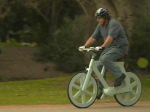 Gafni Riding His Bicycle