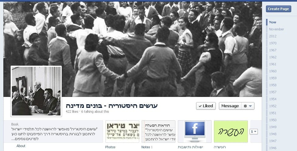 Social Awareness: Israeli Entrepreneurs Use Facebook To Teach Kids History