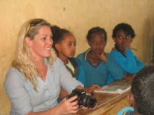 Nitzan Kimmelman, physiotherapy graduate and initiator of the Student Delegation with Ethiopian children