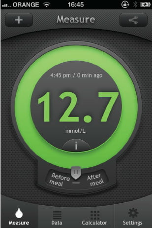 A glucose reading on your smartphone