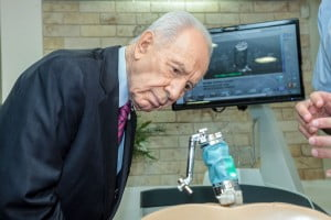 President Peres Visiting The Mazor Robotics Factory