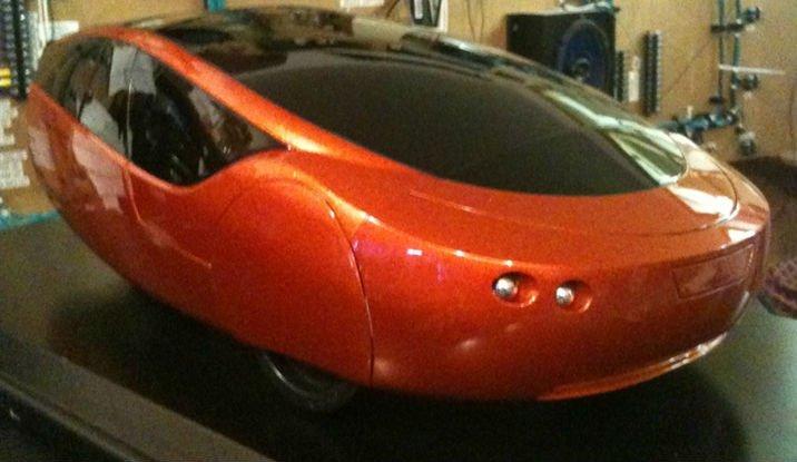 The 3D-printed car
