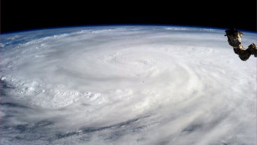 NASA typhoon haiyan from space