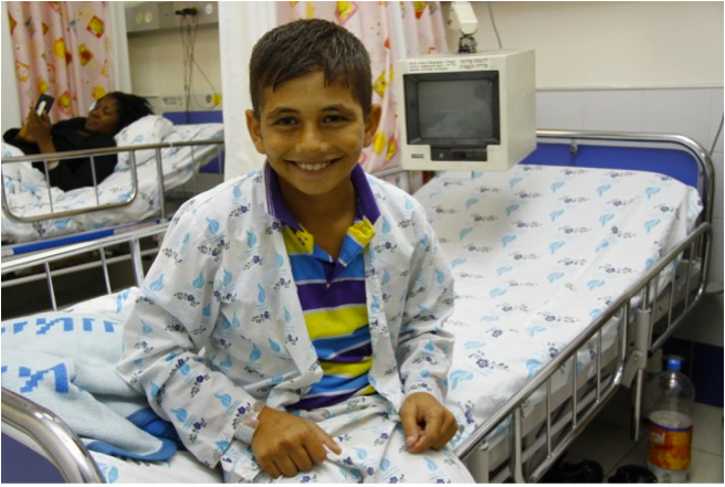 Mohamed Ashgar from Gaza had his life saved by Save A Child's Heart in 2012