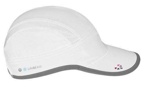 the lifebeam hat in white