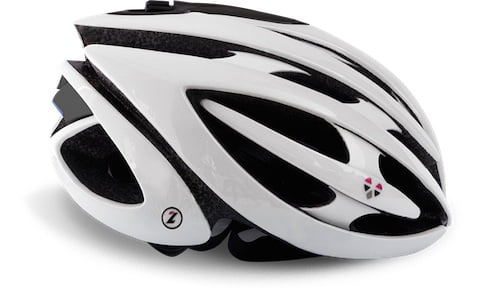 the lifebeam helmet in white