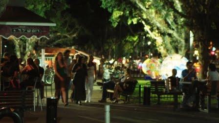 Rothschild Boulevard at night via  Go-Telaviv.com/