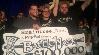 The winning BattleHack team from Tel Aviv