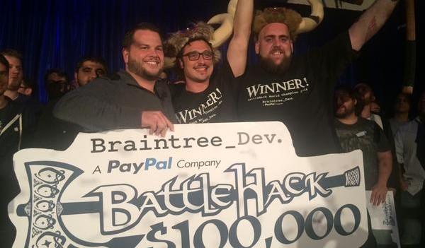 The winning BattleHack team from Tel Aviv