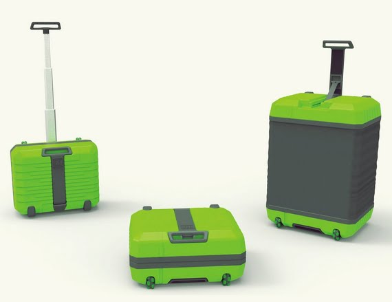 FUGU, The Carry On Luggage That Expands, And Even Turns Into A Table!