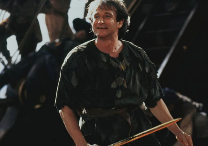The late Robin Williams as Peter Pan in 'Hook'.