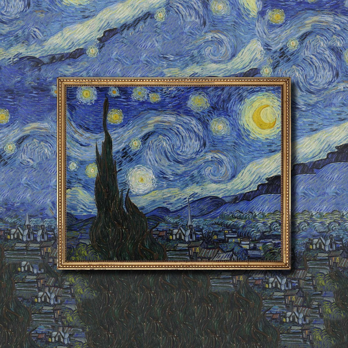 Picture Of Van Gogh Painting Starry Night