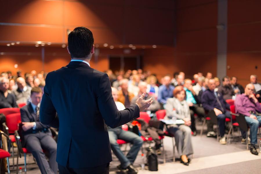 Speaker at Business Conference and Presentation via BigStock