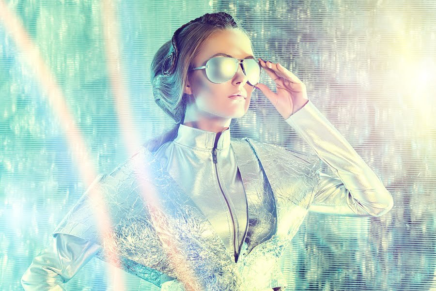 futuristicgirl fashion tech via Bigstock