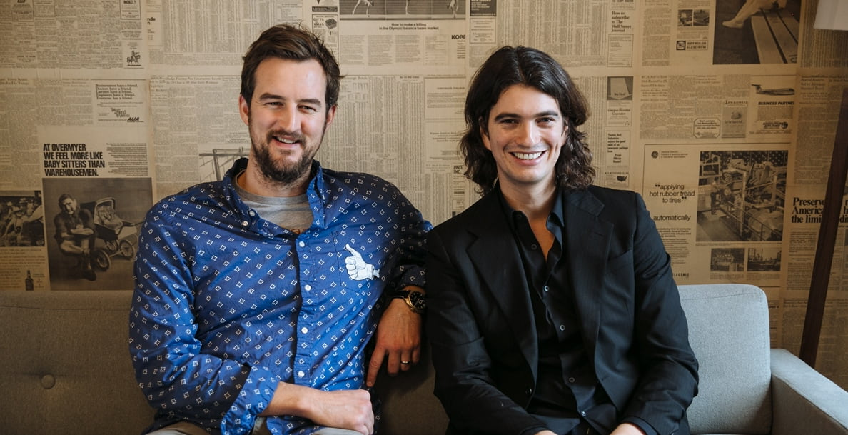 WeWork founders Miguel McKelvey and Adam Neumann. Courtesy
