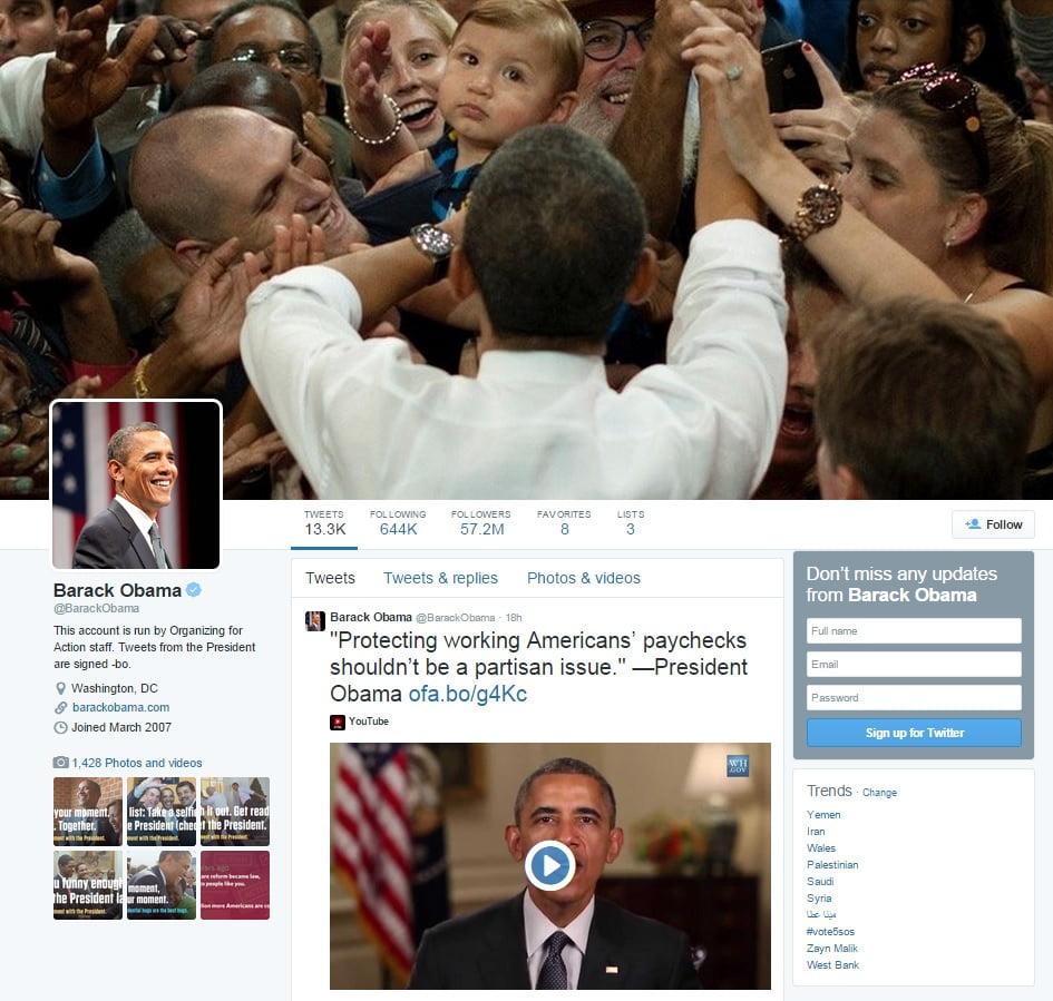 @BarackObama on Twitter