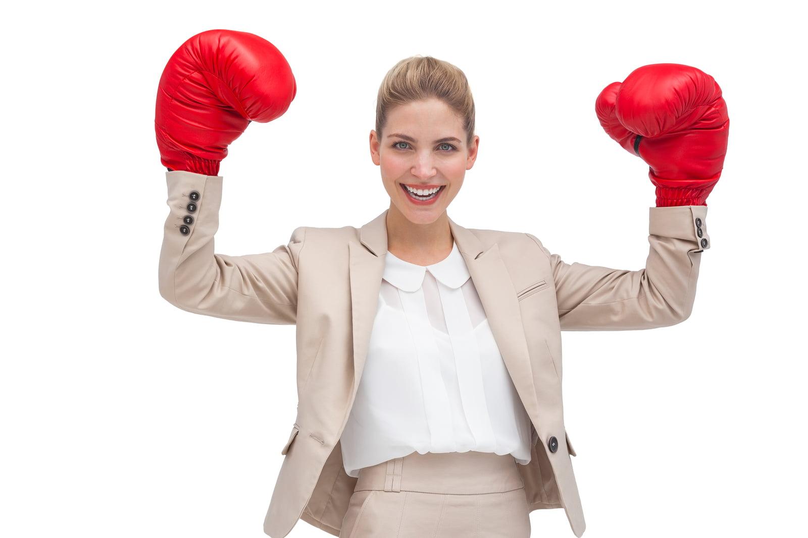 Powerful businesswoman