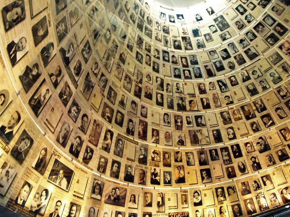 The Hall of Names at Yad Vashem.
