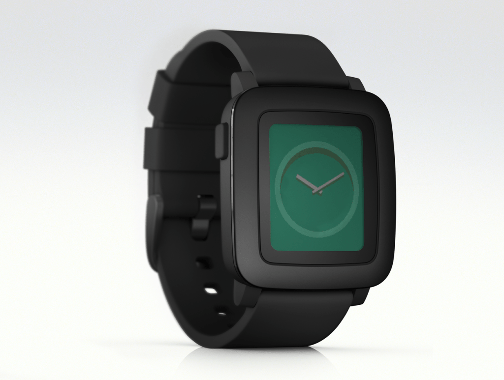 pebble watch 3qr black
