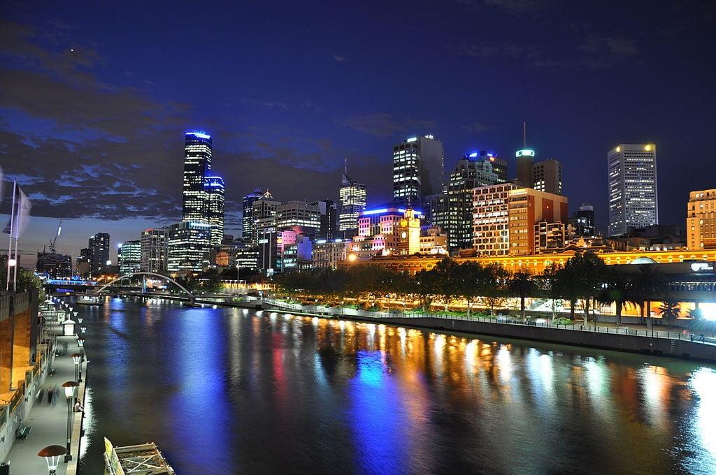 Melbourne and Yarra River Australia