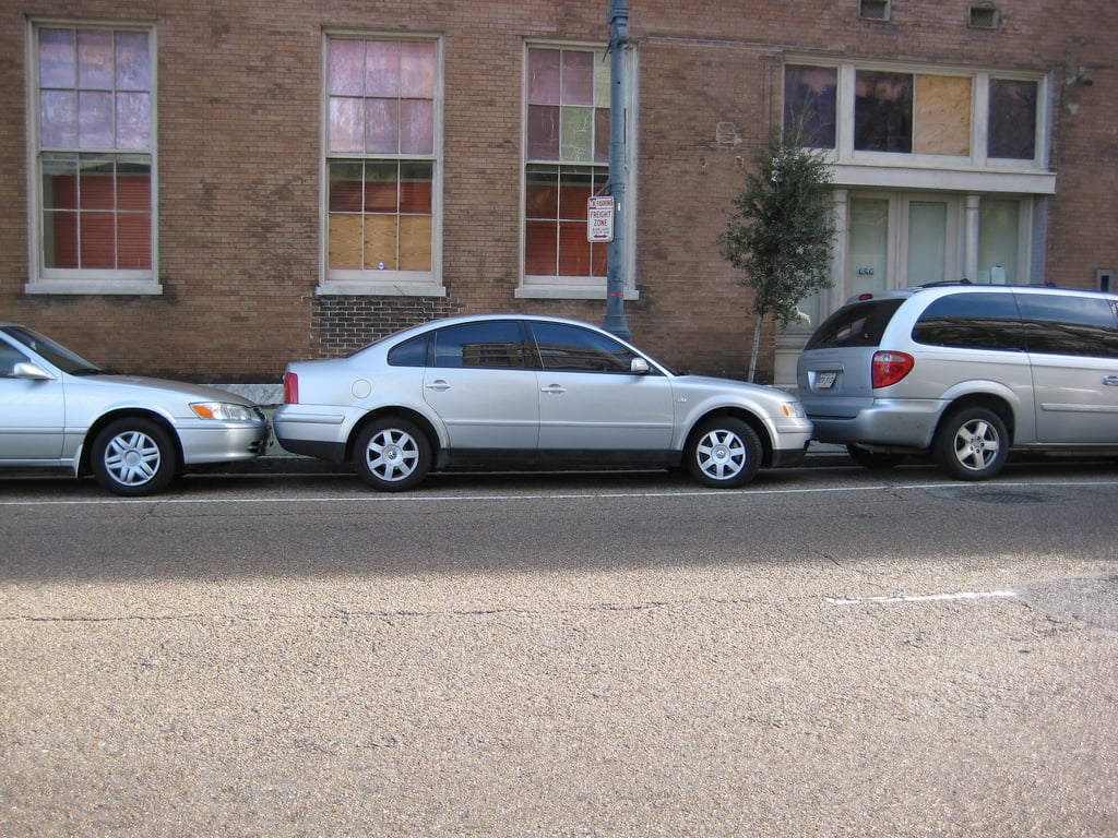Tight parking spot