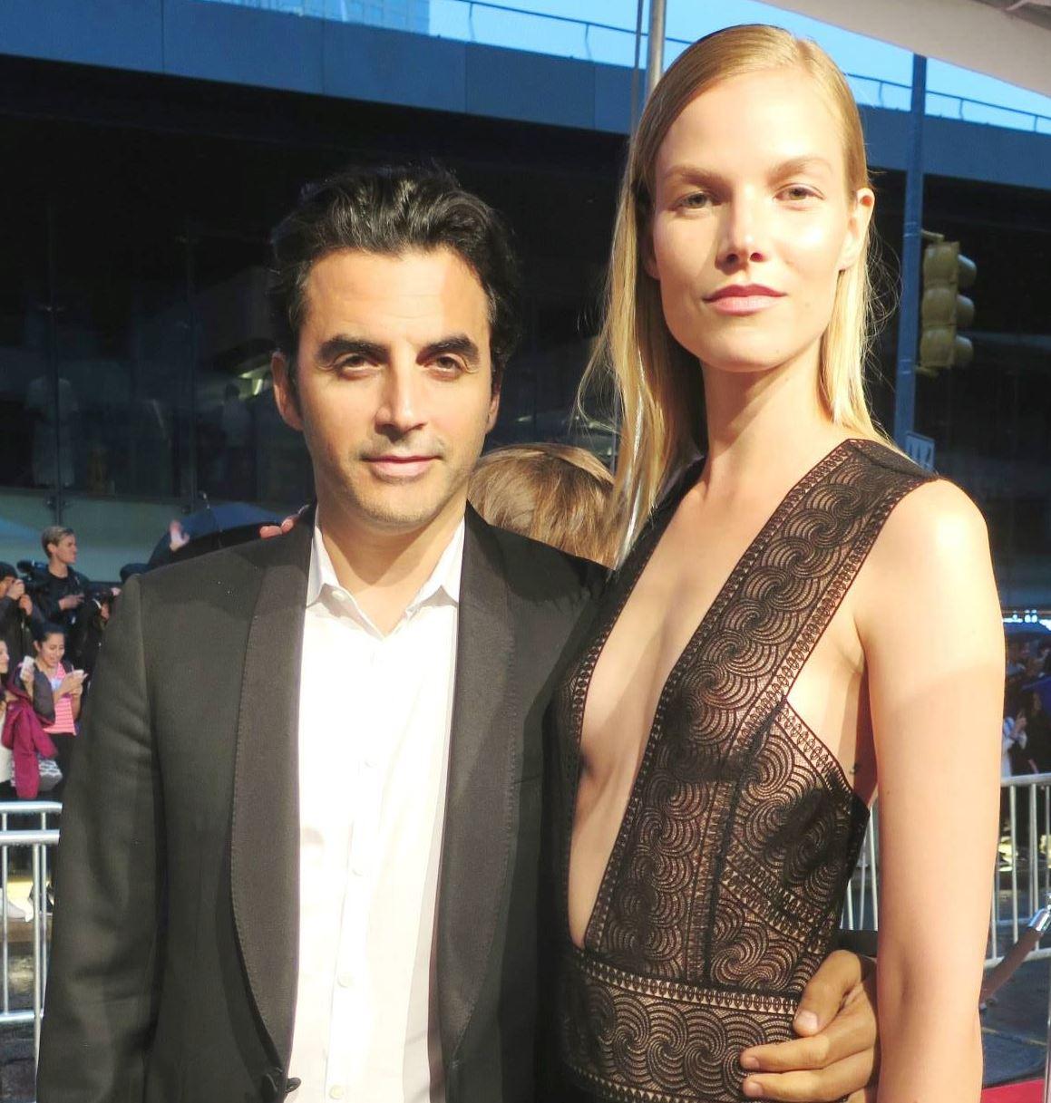 Israeli-American fashion designer Yigal Azrouël and model