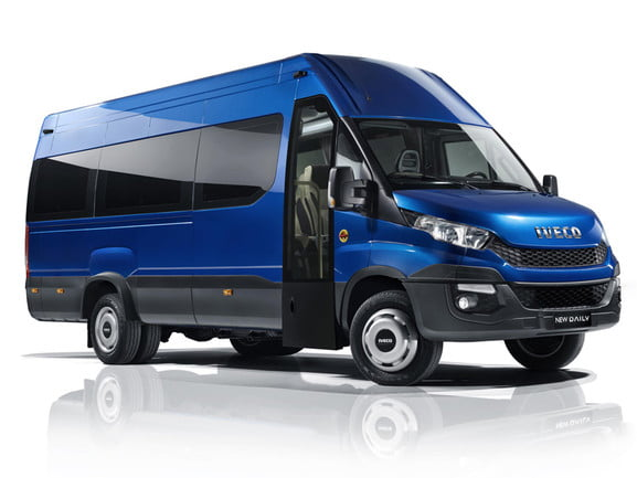Iveco natural gas-powered buses that may soon be used in Israel.