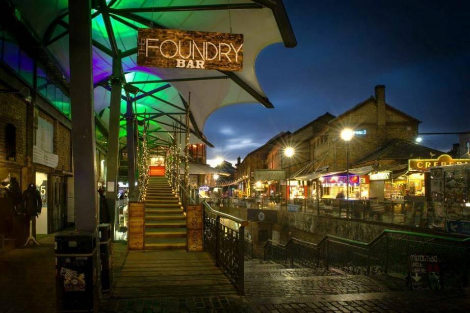 Camden Market at night