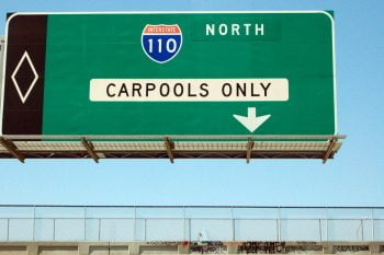 Carpool in highway. Courtesy