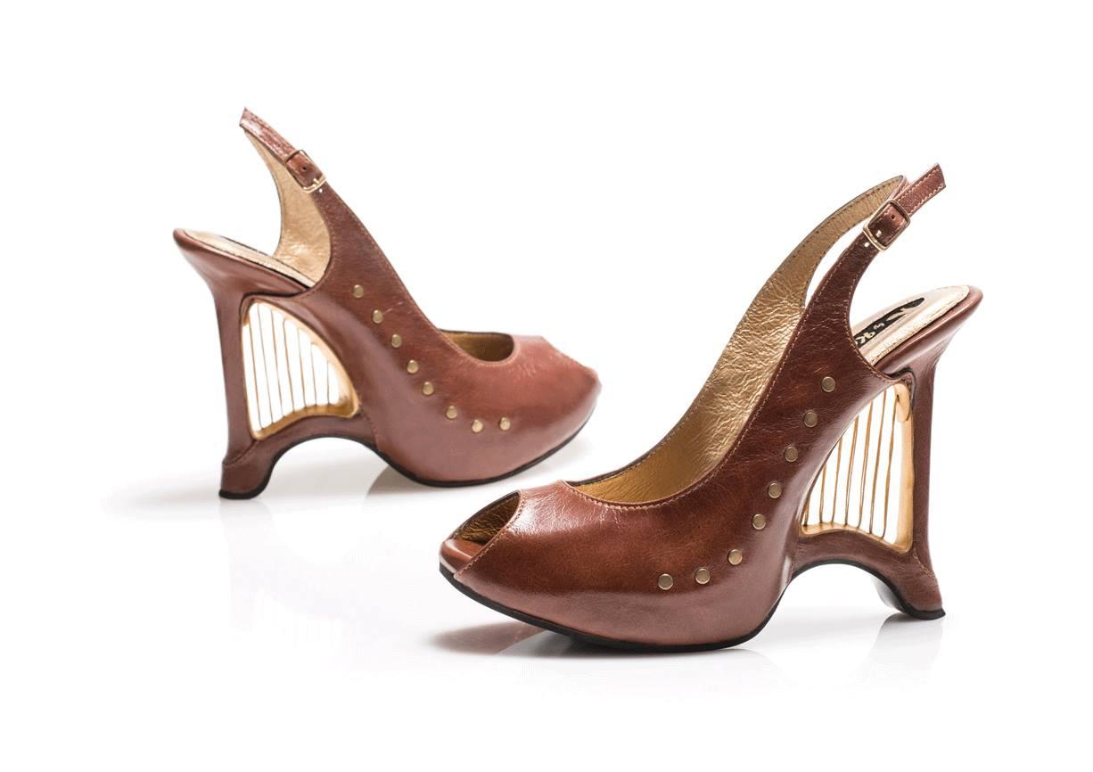 Harp-shaped shoes designed by Kobi Levi