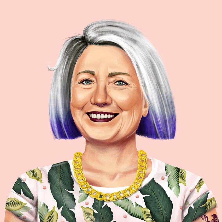 Hillary Clinton by artist Amit Shimoni