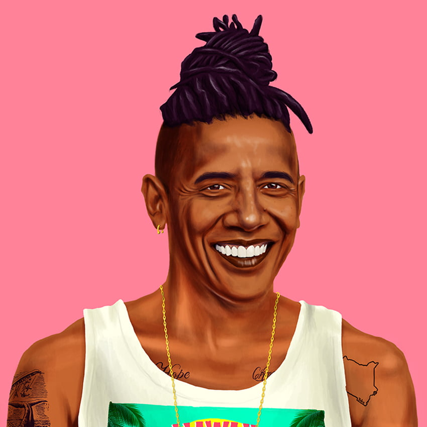 Barack Obama by artist Amit Shimoni