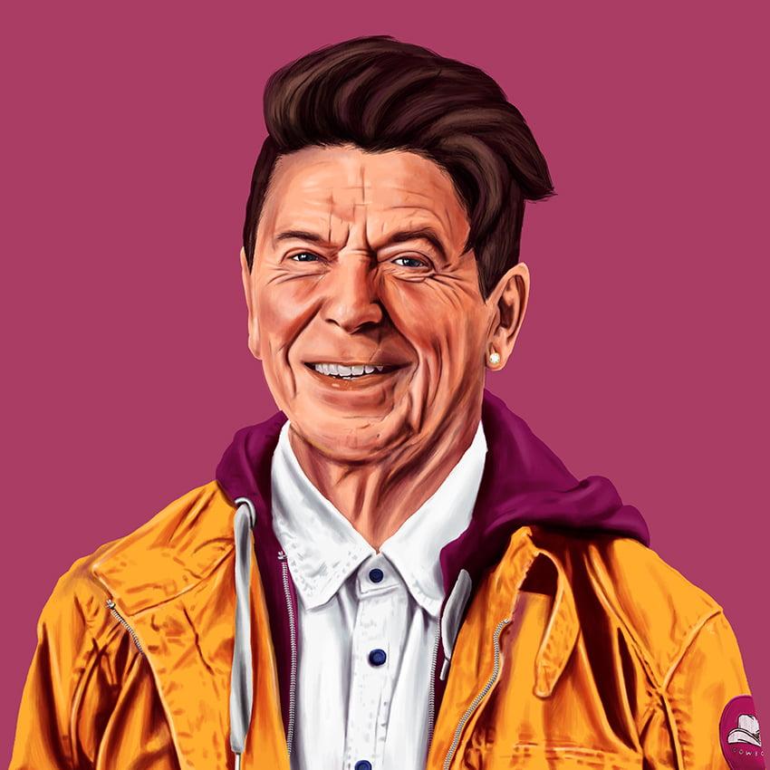 Ronald Reagan by artist Amit Shimoni