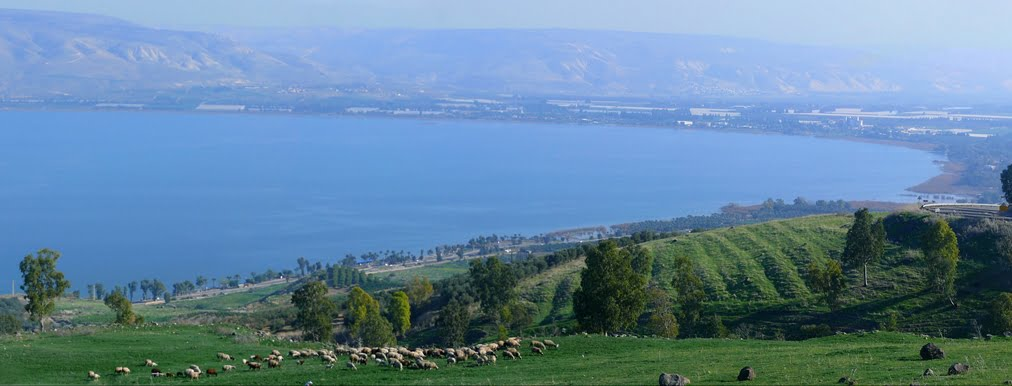 Sea of Galilee, Israel via H20/WikiCommons