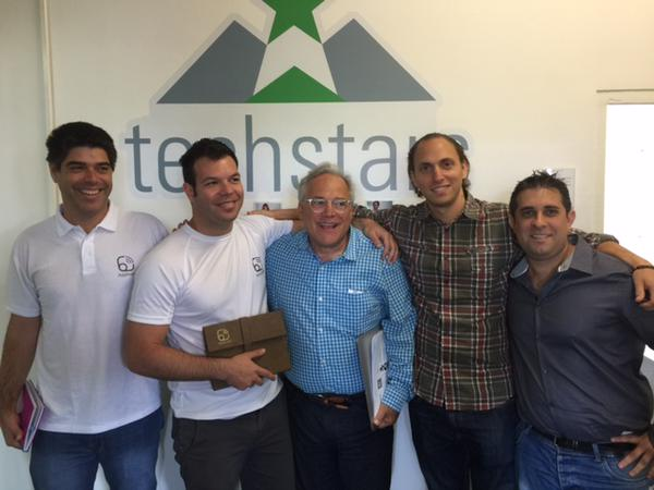 The teams of Israeli startups AppInside and Platfarm of Tech Stars. Coutesy by Maki Oshiro andRobyn Twomey