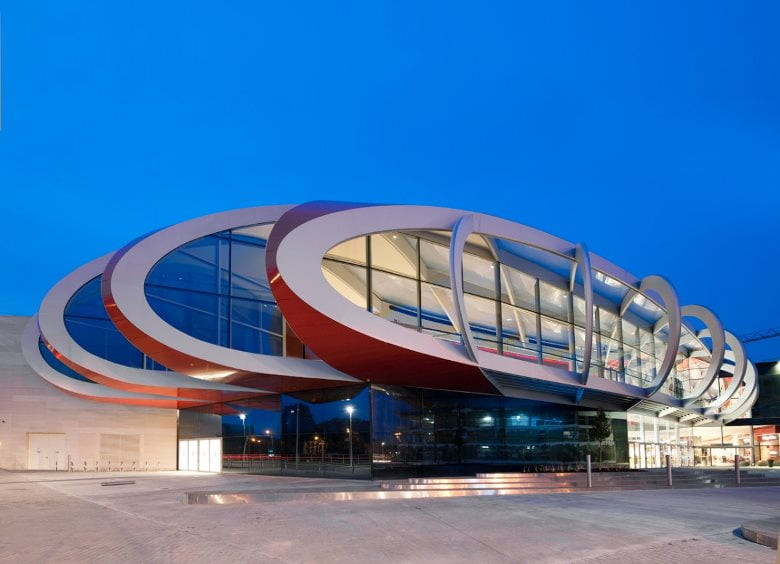 The Mediacite building in Liege, Belgium, designed by Ron Arad