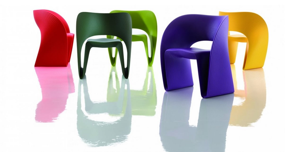 Ron Arad's Raviolo chairs. Courtesy