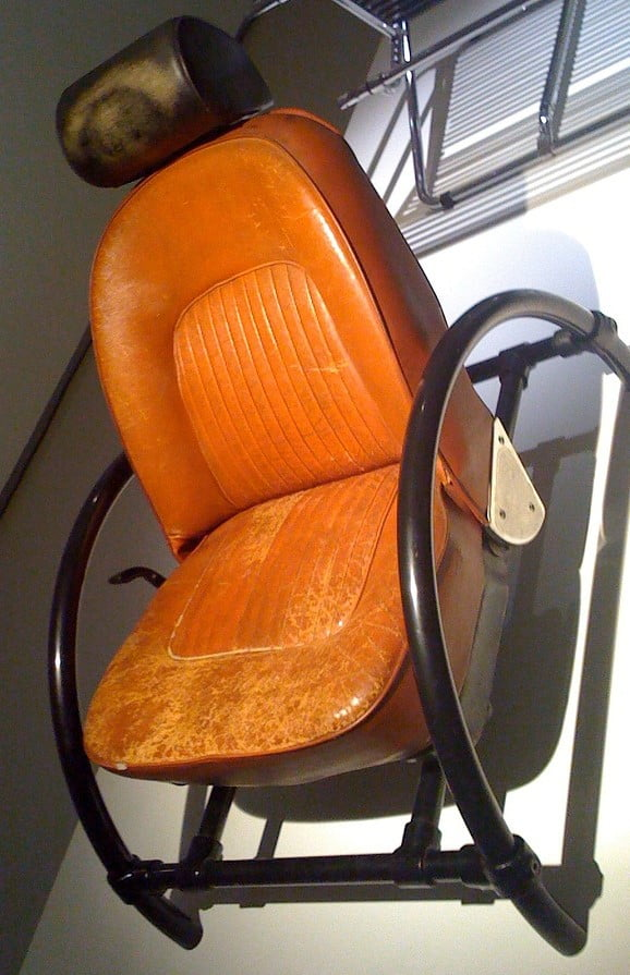 Ron Arad's Rover Chair, exhibited at the Barbican Art Gallery, London, 2010. Courtesy