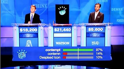 Watson's ability to gauge his level of confidence for each answer was especially important for <em>Jeopardy!</em>because contestants are penalized when they answer incorrectly. Courtesy of ClockReady