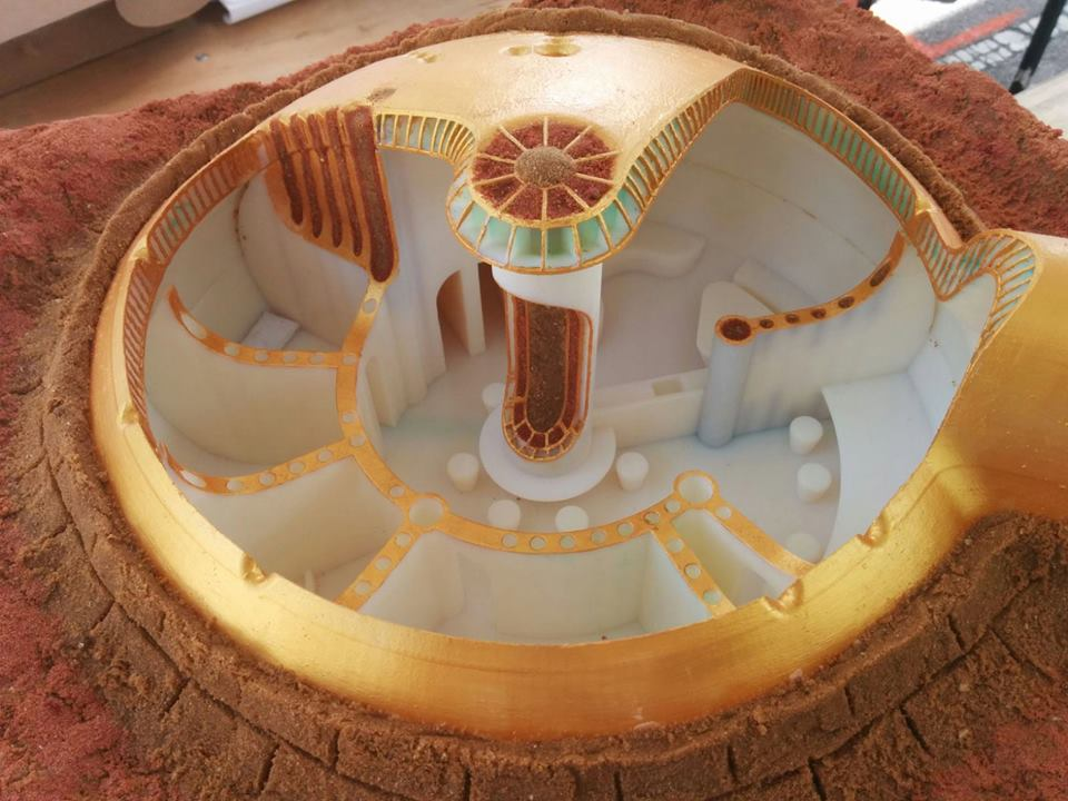 Bubble Base, an Israeli designed model for a Mars habitat won honorable mention in a NASA competition. Courtesy
