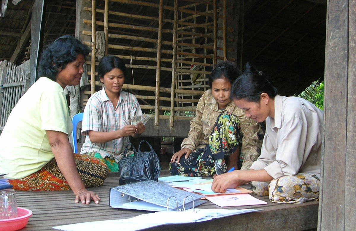Community based savings bank in Cambodia. Photo by Shiri Paamony Eshel