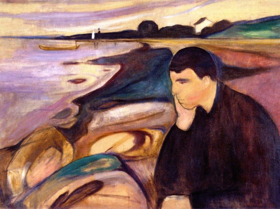 Melancholy by Edvard Munch