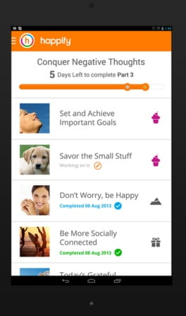 Happify App. Courtesy