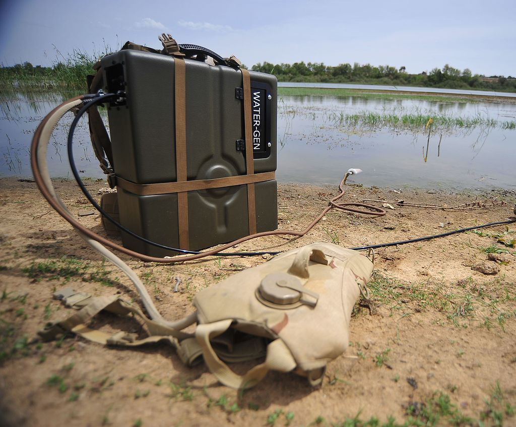 Water-Gen's battery-powered mobile water purification unit. Courtesy