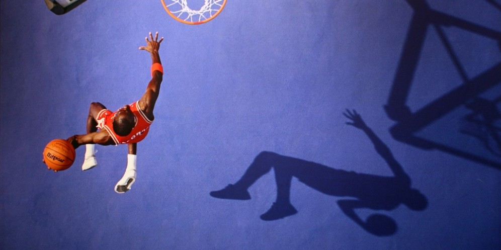 michael jordan slam dunk basketball