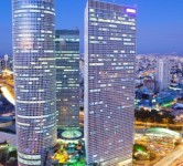 tel aviv night azreli high rise