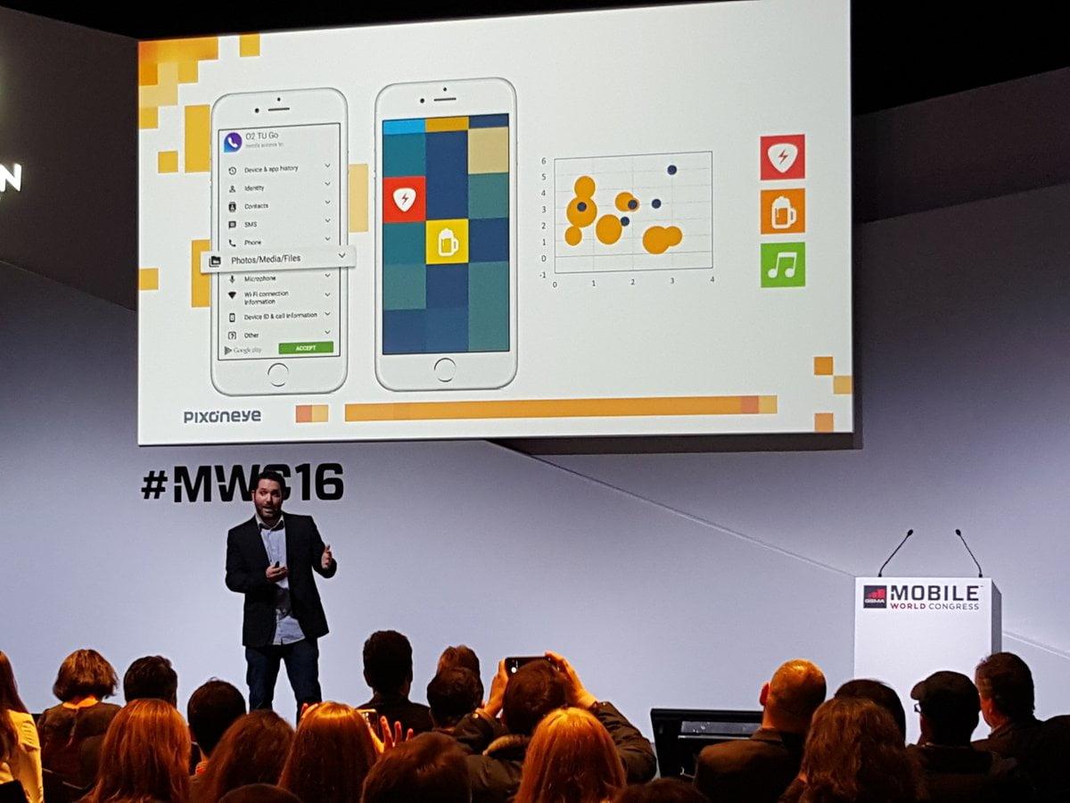 Pixoneye CEO Ofri Ben Porat presenting at the Mobile World Congress in Barcelona earlier this week. Courtesy